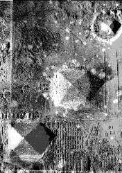 Widok przez nałożenie piramid i pasa Oriona